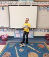 Caroline was the Poet of the Week!