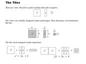 Integers, Expanding, Factoring and Completing the Squares