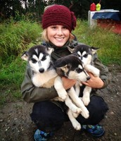 Libet with some husky puppies!
