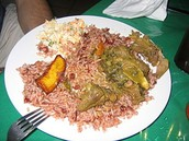 Traditional Belizean dinner