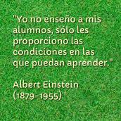 ALBERT EINSTEN planteaba_: