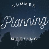 eTEAM Summer Planning Meeting