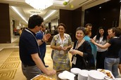 Networking at coffee break