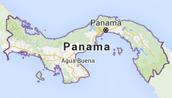 panama's map