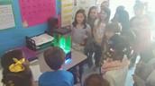 Ms. Lynn's class learning something pretty cool!!