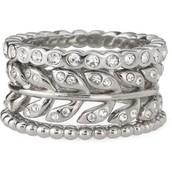 Laurel Ring- set of 3, size 7.  $25
