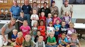 On October 8th & 9th First graders went to the fire station!