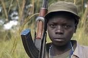 Solider in Uganda