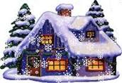 Las casas en la Navidad