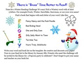 "Jackson Winter Reading Challenge - ""Snow"" Better Time to Read!"