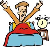 Je me lève à 10h.