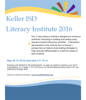 Keller ISD Literacy Institute 2016