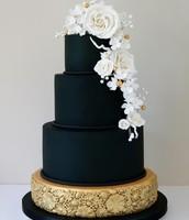 Black Matte Wedding Cake