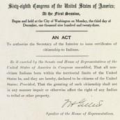 Indian Citizen Act 1924