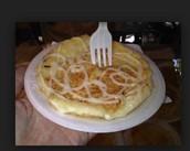 Arepa con queso.