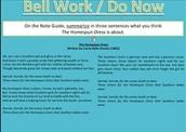 Reading Language Arts - Do Now