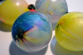 paint in water balloon