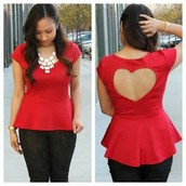 Red Sweetheart Top