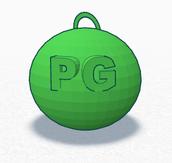 Potter Gray STLP Ball Ornament