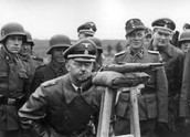 Himmler in WW2, visiting the soldiers from the 13th division
