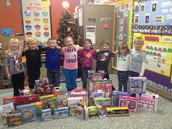 Kindergarten students giving back