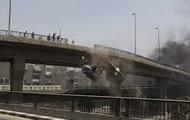 The Black Van falling off a bridge in Claymore Springs