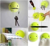 Use tennis balls to hold little items!