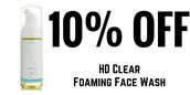 10% off HD Clear Foaming Face Wash