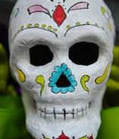Dy of the dead sugar skulls