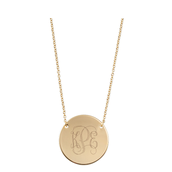 Signature Gold Disc Necklace