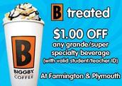 Thank You BIGGBY Coffee
