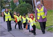 Walking School Bus - School