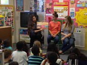 Reading to children at the library