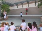 Piñata fun with Mrs. Agundez