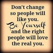 Stop peer pressure, and always be yourself