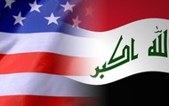 The Flag of The U.S and Iraq