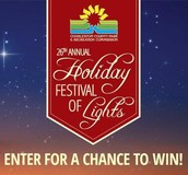 Win a FREE Admission to the Holiday Festival of Lights