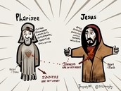 the difference between Jesus and the Pharisees