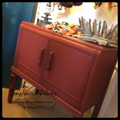Regal Red Chalk Painted 2-Door Cabinet - $165