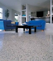 Terrazzo Tile including labor and material, can save up to half or more versus Cast in place Terrazzo!