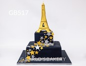 Eiffel  Tower cake from Carlo's Bakery