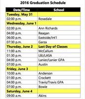 Graduation Schedule Link