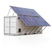 solar panels on a metal box