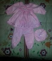 lindo trajecito de bebe rosado