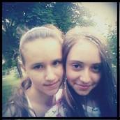 Моя подруга Ксюша і я