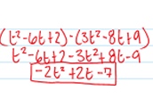 Subtracting Polynomials