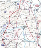 Map of the Battle of Amiens