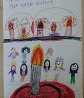 Elisa's picture for the children's better future, 3rd grade