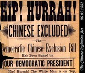 Where the Chinese settled in the west