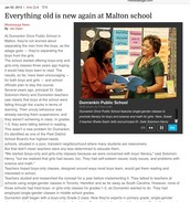 Collaborated With Teachers To Showcase Single Gendered Classrooms in the Mississauga News